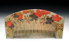 Meiji Period Japanese Geisha Hair Comb Accessory #30