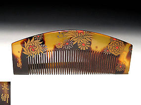 Meiji Period Japanese Geisha Hair Comb Accessory #31