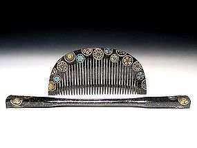 Meiji Period Japanese Geisha Hair Comb Accessory #34