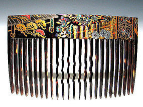 Meiji Period Japanese Geisha Hair Comb Accessory #35