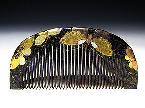 Meiji Period Japanese Geisha Hair Comb Accessory #36