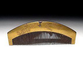 Meiji Period Japanese Geisha Hair Comb Accessory #37