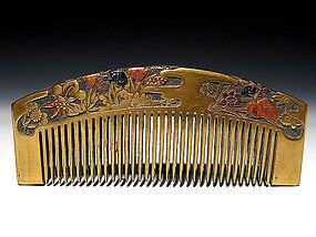 Meiji Period Japanese Geisha Hair Comb Accessory #38