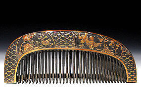 Meiji Period Japanese Geisha Hair Comb Accessory #40
