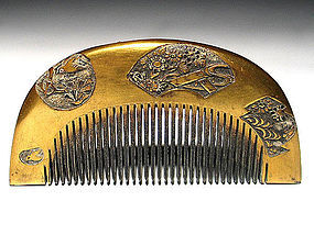 Meiji Period Japanese Geisha Hair Comb Accessory #41