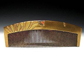 Meiji Period Japanese Geisha Hair Comb Accessory #42