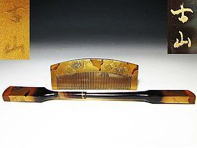 Meiji Period Japanese Geisha Hair Comb Accessory #44