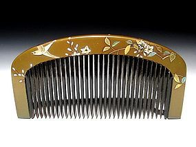 Meiji Period Japanese Geisha Hair Comb Accessory #46