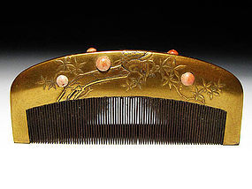 Meiji Period Japanese Geisha Hair Comb Accessory #49