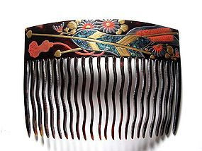 Meiji Period Japanese Geisha Hair Comb Accessory #50