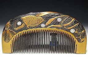 Meiji Period Japanese Geisha Hair Comb Accessory #51
