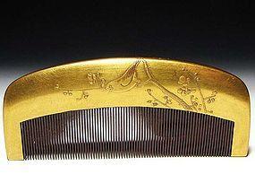 Meiji Period Japanese Geisha Hair Comb Accessory #54