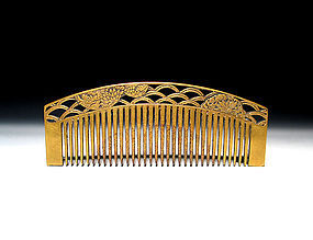 Meiji Period Japanese Geisha Hair Comb Accessory #59