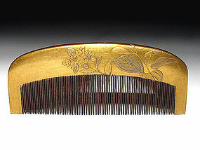 Meiji Period Japanese Geisha Hair Comb Accessory #60
