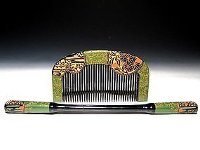 Meiji Period Japanese Geisha Hair Comb Accessory #63