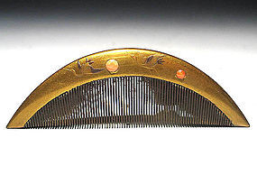 Meiji Period Japanese Geisha Hair Comb Accessory #66