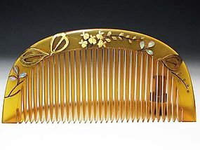 Meiji Period Japanese Geisha Hair Comb Accessory #69