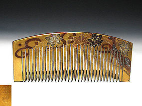Meiji Period Japanese Geisha Hair Comb Accessory #73