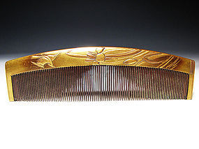 Meiji Period Japanese Geisha Hair Comb Accessory #75