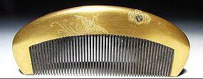 Antique Japan Geisha Hair Accessory Comb Kushi Set #2