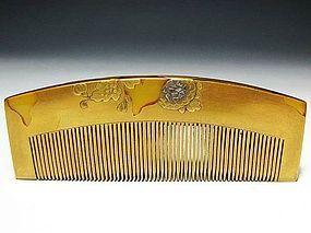 Antique Japan Geisha Hair Accessory Comb Kushi Set #6