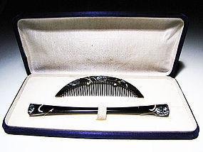 Antique Japan Geisha Hair Accessory Comb Kushi Set #10