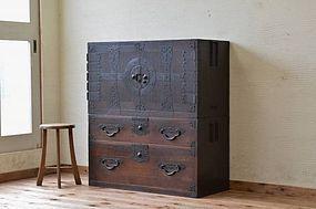Edo Japan Antique Tansu Cabinet Furniture Kanagu #2