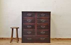 Edo Japan Antique Tansu Cabinet Furniture Kanagu #11