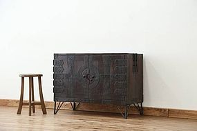 Edo Japan Antique Tansu Cabinet Furniture Kanagu #12