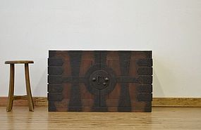 Edo Japan Antique Tansu Cabinet Furniture Kanagu #15