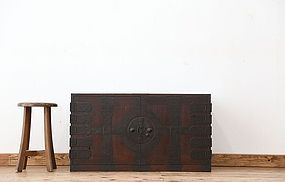 Edo Japan Antique Tansu Cabinet Furniture Kanagu #18