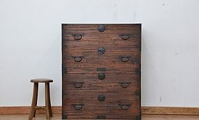 Edo Japan Antique Tansu Cabinet Furniture Kanagu #21