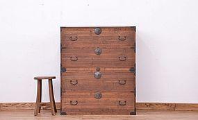 Edo Japan Antique Tansu Cabinet Furniture Kanagu #22