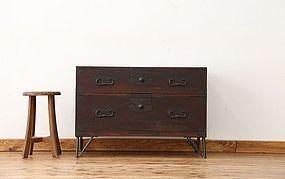 Edo Japan Antique Tansu Cabinet Furniture Kanagu #24