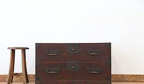 Edo Japan Antique Tansu Cabinet Furniture Kanagu #26