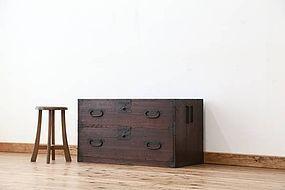 Edo Japan Antique Tansu Cabinet Furniture Kanagu #27
