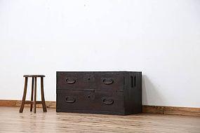 Edo Japan Antique Tansu Cabinet Furniture Kanagu #28