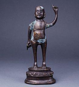Japan SAKYAMUNI Shaka Nyorai Zen Buddha Zushi Statue