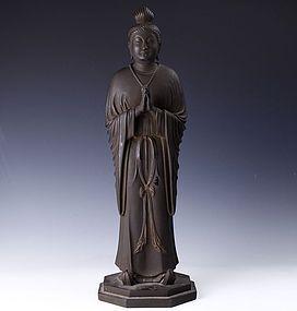 Japanese KANNON GEKKO Buddha Zen Statue
