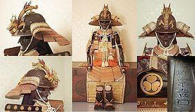 Authentic Edo Period TOKUGAWA Iesada Samurai Kacchu Yoroi Armor Suit