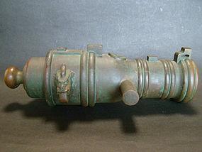 Rare Japanese Teppou Gun Hiyazutsu daimyo family mon crest