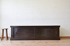 EDO Antique Japanese Sado Tansu Robodo Cabinet Ogi Chest