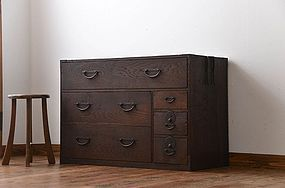EDO Antique Japanese Sado Tansu Cabinet Ogi Chest