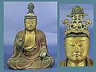 EDO Japanese Gilt-wood SEI KANNON Bosatsu Buddha