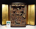 EDO Japanese Buddha Kannon Bosatsu 43 Gods Zushi Shrine