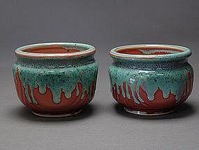 Authentic MEIJI Tea Ceremony MAKUZU KOZAN signed Cups