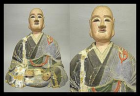 Japanese Buddhist Monk Priest NICHIREN Sculpture Statue