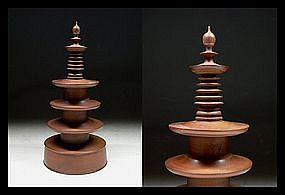 Japanese GORINTO Buddhist Temple Pagoda Stupa Sculpture