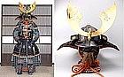 Momoyama Period Samurai Yoroi Gusoku Kabuto Armor Suit