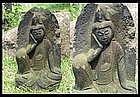 Japanese Stone Nyoirin Kannon Bodhisattva Jizo Buddha